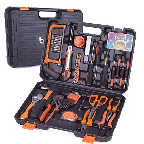 Tool Set, 102PCS Hand Tool Kit Combination Package Mixed...