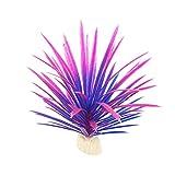 GRASARY Flores Artificiales, 13cm Planta Artificial Narciso Hierba De Agua Adorno De Acuario para Pecera Púrpura