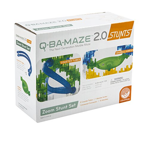 MindWare Q-BA-Maze Zoom Stunt Set de Juguete de construcción