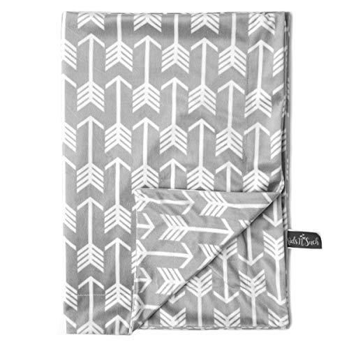 """Kids N' Such Minky Baby Blanket 30"""" x 40"""" - Grey Arrow - Soft Swaddle Blanket for Newborns and Toddlers - Best for Boys or Girls Crib Bedding, Nursery, and Security - Plush Double Layer Fleece Fabric"""