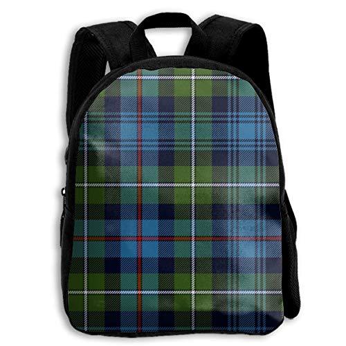 jenny-shop Mackenzie Highlander Tartan Ancient Colors Toddler Backpack 13 'Kids School Backpacks for Boys and Girls