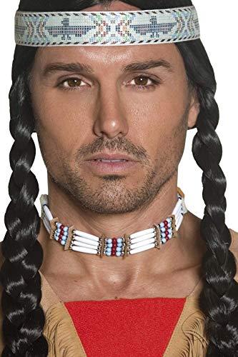 Smiffys Unisex Indianen halssieraad, één maat, wit, 33229