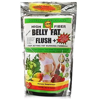 High Fiber Belly Fat Flush Plus Fast Acting Fat Burning - Eliminar la grasa del Abdomen - Appetite Suppressant, Flush Out Belly Fat, Boost Health & Energy/Weight Loss Formula - Omega 3, 6 & 9