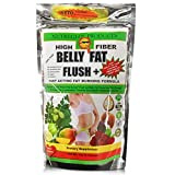High Fiber Belly Fat Flush Plus Fast Acting Fat Burning - Eliminar la grasa del Abdomen - Appetite Suppressant, Flush Out Belly Fat, Boost Health & Energy/Weight Loss Formula - Omega 3, 6 & 9