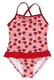 Playshoes Mädchen Einteiler UV-Schutz Badeanzug Erdbeeren, Mehrfarbig (Original 900), 74/80