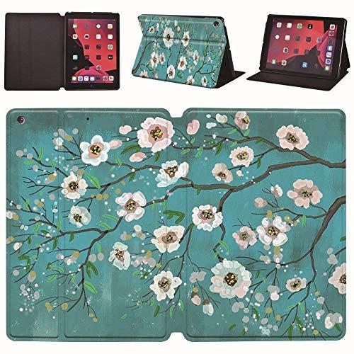 Leather Stand Cover Case Fit Ipad Mini 12345/Ipad Pro 9.7/10.5/11 Inch/Ipad Air 1/2/3/Ipad 234/Ipad 5/6/7/8 Generation (Color : W flower, Size : IPad Mini 4 5)