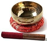Buda figuras Cuenco tibetano handgedengelt 600g–650g con accesorios 3teilig...