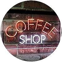 Coffee Shop Kitchen Bistro Decoration Dual Color LED看板 ネオンプレート サイン 標識 白色 + オレンジ色 600 x 400mm st6s64-i2111-wo