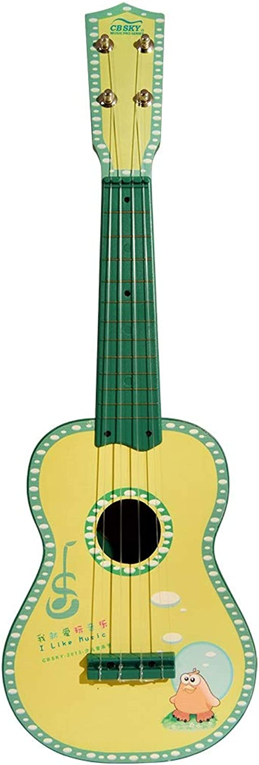 "HAPPY LEMON Specialise in educational music toys Beautiful Interesting 21""Ukulele Kids Musical Instrument Beginner Kids Musical Toys professional musical instruments ( color   Green )"