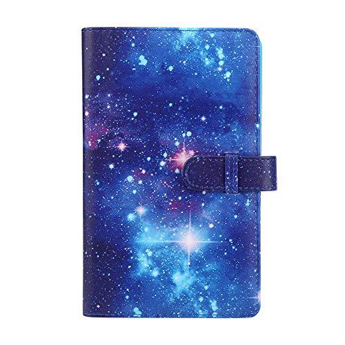 NEUFDAY 【𝐎𝐬𝐭𝐞𝐫𝐟ö𝐫𝐝𝐞𝐫𝐮𝐧𝐠𝐬𝐦𝐨𝐧𝐚𝐭】 Fotoalbum, PU Universal Card Storage Buch Cardcase Bank 3in 96 Taschen für mini11/8/9/7s/25/70/90 Sofortbildkamera Foto(Leuchtender Sternenhimmel)