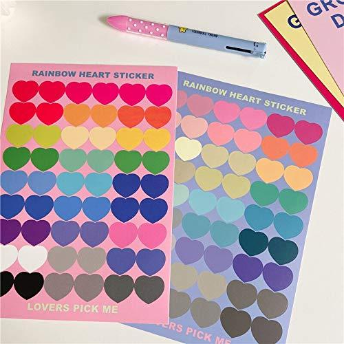 BLOUR Kawaii Candy Farbe Liebe Herz Aufkleber Scrapbooking Dekorative Aufkleber Mädchen DIY Tagebuch Album Stick Label Nettes Briefpapier
