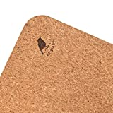 42 Birds Cork Yoga Mat Lightweight, Soft, Travel Yoga Mat, Non Slip for Hot Yoga, Premium, 100% Recycled Cork - 72' x 24', 5mm Thick, 2.5lbs,