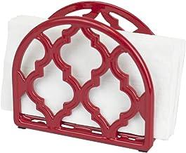 Home Basics 格子系列铸铁餐巾架 红色