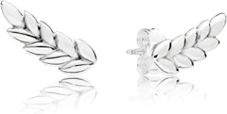 2019 New Fashion 100% 925 Sterling Silver Curved Grains Earring Studs Original Vintage Jewelry Factory Wholesale 297730