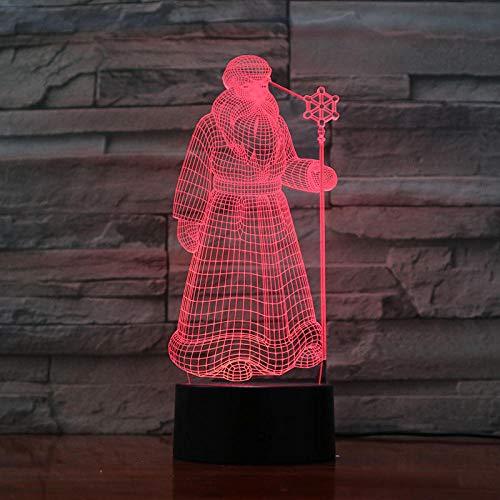 Luz nocturna 3D ilusión LED Luz de Noche Luz de ilusión 3D para hombres, mujeres, niños, niñas, regalo Con interfaz USB, cambio de color colorido