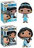Funko POP! Aladdin: Jasmine (Series 5) + Disney Princess Jasmine – Stylized Vinyl Figure Set NEW