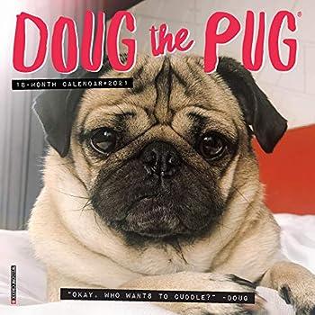 Doug the Pug 2021 Mini Wall Calendar  Dog Breed Calendar
