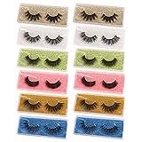 12 Pairs False Eyelashes 3D Natural Look Fake Lashes High Volume Faux Mink Wispy Eyelashes Pack with Portable Eyelash Boxes