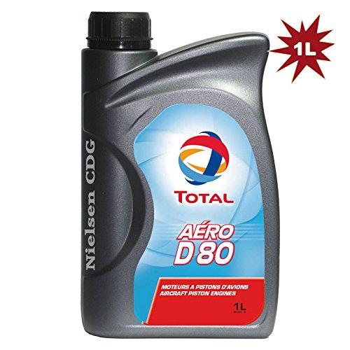 Total - Huile Aero D80 pour moteurs à piston - 1 litres