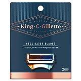 King C. Gillette - Cuchillas de afeitar para cuello, 3 recambios