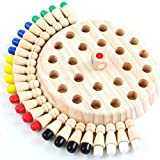 [Newest] Children Wooden Memory Matchstick Chess Game,Educational Intelligent Logic Game and Brainteaser Kid Intelligence IQ Brain Teaser Game Family Party Casual Game