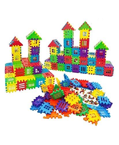 FunBlast Building Blocks for Kids – 72 Pcs, Big Size House Building Blocks with Windows, Block Game for Kids -Multicolor