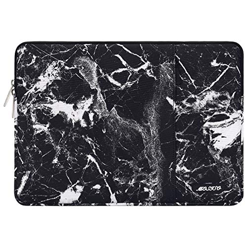 MOSISO Tablet Sleeve Case Compatible with 9.7-11 inch iPad Pro, iPad 7 10.2 2019, iPad Air 3 10.5,iPad Pro 10.5,Surface Go 2018,iPad 3/4/5/6,Water Repellent Polyester Vertical Pocket Bag, Black Marble