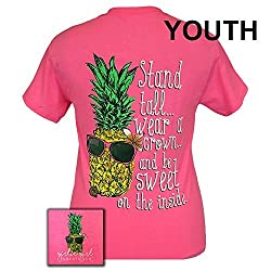 Girlie Girls Stand Tall Pineapple Preppy Short Sleeve T-Shirt - YOUTH