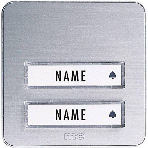 m-e GmbH modern-electronics - Pulsante campanello della gamma KTA, 1 pulsante, colore: Bianco/Argento