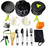 Gold Armour 17 Pieces Camping Cookware Mess Kit Backpacking Gear and...