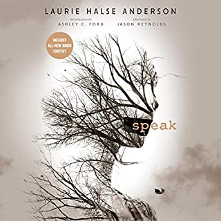 Speak     20th Anniversary Edition              By:                                                                                                                                 Laurie Halse Anderson                               Narrated by:                                                                                                                                 Mandy Siegfried,                                                                                        Ashley C. Ford,                                                                                        Jason Reynolds,                   and others                 Length: 5 hrs and 48 mins     1,336 ratings     Overall 4.4