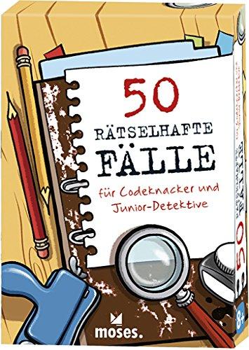 moses. 30241 50 rätselhafte Fälle für Codeknacker und Junior-Detektive | Kinderbeschäftigung | Kartenset