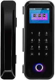 Double Hook Design mart Lock with Attendance 2.4-Inch Color Screen Password Lock Fingerprint Lock Single Double Door Homes...