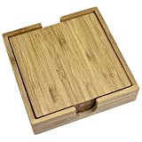 Totally Bamboo 4 Piece Coaster Set with Case