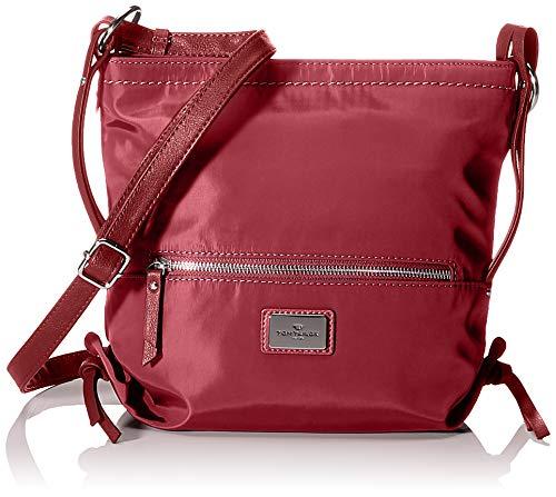TOM TAILOR Umhängetasche Damen Elin Nylon, Rot (Dunkelrot), 27x27x6 cm, TOM TAILOR Handtaschen, Taschen für Damen, klein
