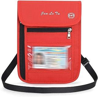 Ertisa Equipo RFID Cuello Monedero Ajustable Resitente al Agua Portadocumentos de Viaje Cartera de Cuello con Bloqueador RFID Cartera de Viaje Anti-Robo para Mujeres
