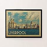 Liverpool Vintage Travel Jigsaw Puzzles 1000 piezas, desafiantes y educativos rompecabezas juegos juguetes, pintura abstracta rompecabezas para niños adultos
