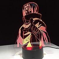 3DビジュアルUsbデスクランプの家の装飾をつける導かれた子供を変える夜ライト7色