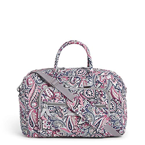 Vera Bradley Signature Cotton Compact Weekender Travel Bag, Gramercy Paisley