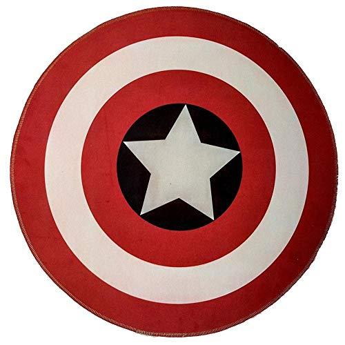 TYYM games carpet Captain America Kinderspielteppich, runder bedruckter Teppich Krabbeldecke Verdickung rutschfeste Spielmatten 01-120CM
