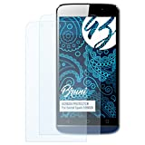 Bruni Schutzfolie kompatibel mit Switel Spark S5502D Folie, glasklare Bildschirmschutzfolie (2X)