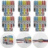 ctricalver 6 pezzi cavo connettore, 3 in 6 out bilaterale conduttore compatto connettore, morsettiera connettore molla, con viti di montaggio