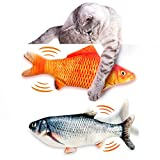 Floppy Fish Cat Toy, Interactive Cat Toy, Realistic Flopping Fish Cat Toy, Catnip Cat Toys, Automatic Cat Toy for Indoor Cats and Kids, Plush Cat Chew Toy, Electronic Cat Kicker Toys for Kitty