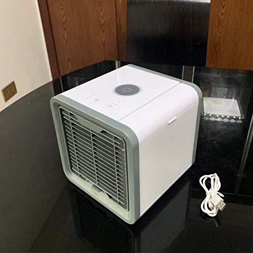 Mini-mini-USB-ventilator koelventilator airconditioner buiten kantoor aan huis dorm draagbare bevochtigen airconditioning ventilator (Kleur: wit) 8bayfa (Color : White)
