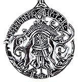 Colgante de Tyr con Fenrir de plata de ley 925 n.º 398