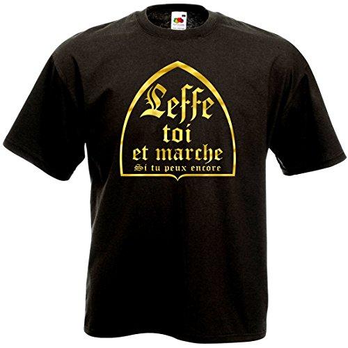 T-Shirt Leffe toi et Marche - Humour Bière Alcool Fête Soirée Cadeau (L)