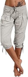 Hot!! 🌷Women's Baggy Harem Pants GateLie Fashion Summer Damenloose Haremshose Capri Pants M-XL