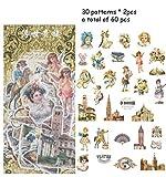 LASISZ 40 Unids//Lote Pegatinas Retro Vintage Retro Christmas Manor Antigua Grecia /Ángel DIY Planificador Libro Material Scrapbooking Sticker A