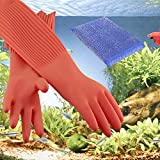 Wallko's pet store Aquarium Gloves for Fish Tank Maintenance – 22 inch Long Rubber Gloves Keep Your Hands and Arms Dry. Increases Comfort in Daily Aqua Maintenance. Medium Sized.