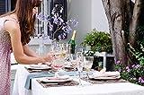 Hussenkönig Stehtischhusse Tischhusse Husse für Stehtisch Bistrotisch Tischdecke Größen Ø 60 cm 70 cm 80 cm Premium Weiß - 3